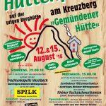 Herzlich Einladung zu unserem Hüttenfest am 12. und 15. August 18