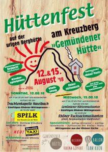 Read more about the article Herzlich Einladung zu unserem Hüttenfest am 12. und 15. August 18